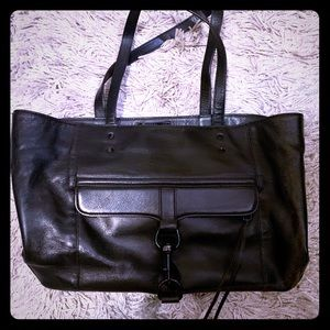 Rebecca Minkoff black leather tote bag